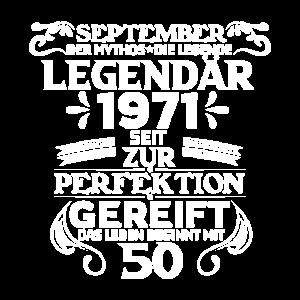 50. Geburtstag September 1971 Geschenk Legende
