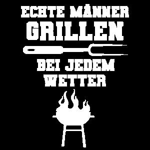 Echte Männer grillen Grillmeister Mann Geschenk
