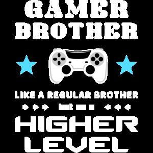 Gamer Bruder Videospiele Joystick Zocken Level