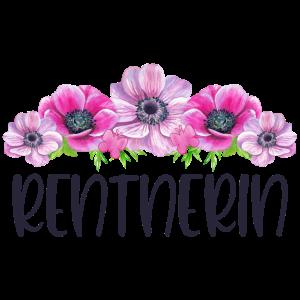 Rentnerin Rente Ruhestand Rentner Blumen