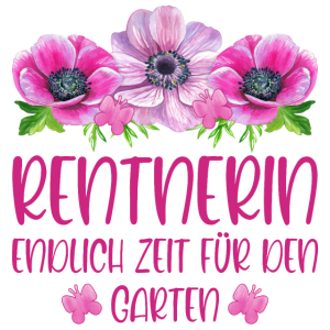 Rentnerin Rente Blumen Endlich Zeit für den Garten