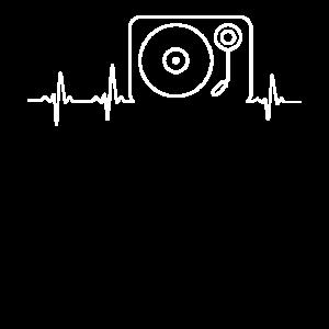 Herzschlag Schallplattenspieler Schallplatte Gesch