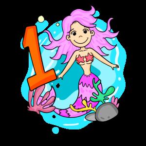 1. Geburtstag Meerjungfrau Mädchen
