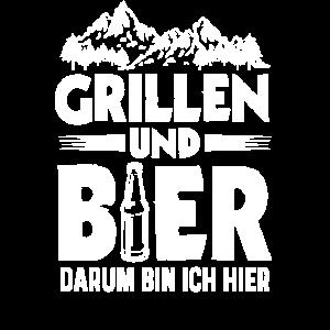 Grillen und Bier darum bin ich hier Grillmeister