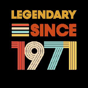 Vintage Legendary since 1971 Geburtstag