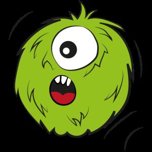 Süßes rundes farbiges Monster Illustration Grafik