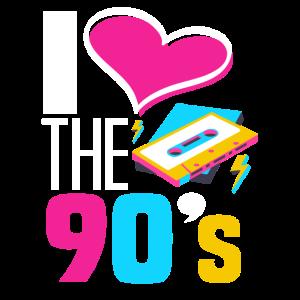 Ich Liebe die 90er Jahre Geschenk
