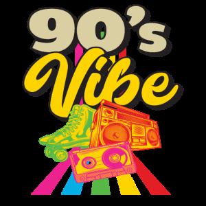 90er Jahre Rollschuhe Musik Kindheit Geschenk