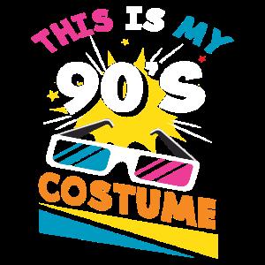 Kostüm 90er Jahre Motto Party Outfit Geschenk