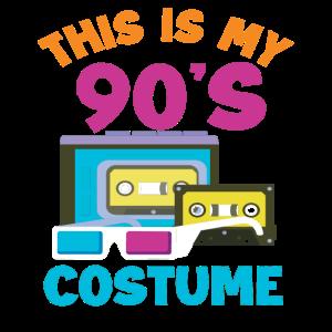 90er Jahre Kostüm Geschenk