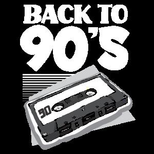 Zurück In die 90er Kassette 1990er Jahre Geschenk