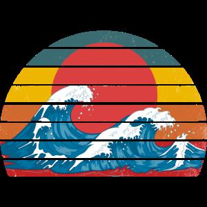 Die große Welle vor kanagawa retro