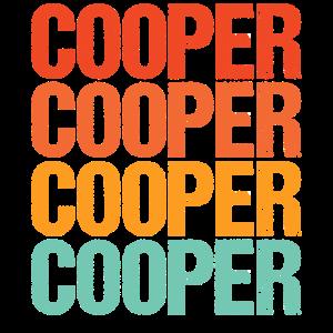 Cooper Name Vintage Männer Retro Junnge Name