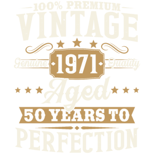 Jahrgang 1971 Retro Vintage 50 Geburtstag Geschenk