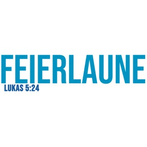 FEIERLAUNE - Print in blau