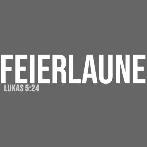 FEIERLAUNE - Print in weiß