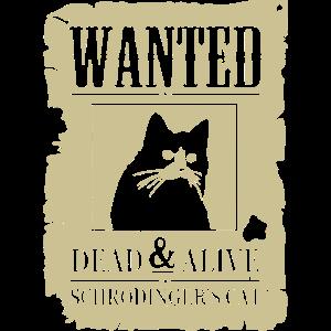 Lustige Katze, gesucht tot und lebendig Schrodinger Katze