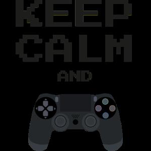 Ruhig bleiben und Videospiele spielen