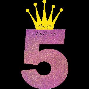 Happy Birthday 5 Jahre Alt Geburtstag Feier Idee