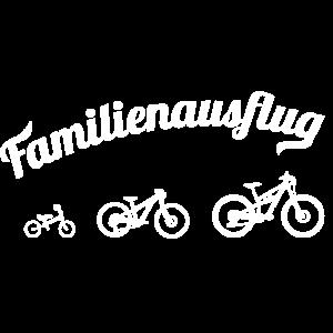 Mountainbike Familie Ausflug