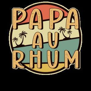 Homme Papa au rhum - motif amusant pour papa