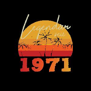 Retro Legendär seit 1971 Spruch Geburtstag Design