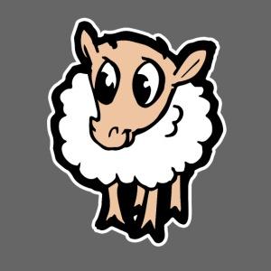 Süßes lustiges Comic Schaf Geschenkidee Cartoon