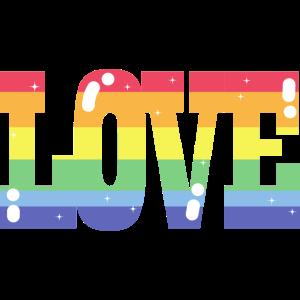 Pride Love Regenbogenfahne