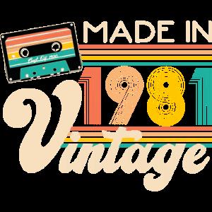 Jahrgang 1981 Retro Geburtstag Geschenk