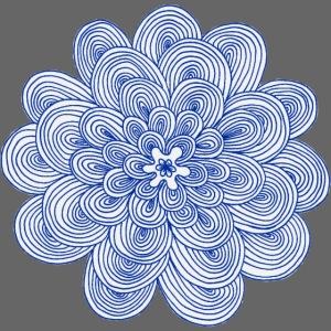 hypnotic flower blue
