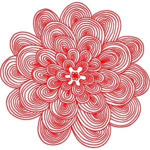hypnotic flower red