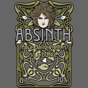 Absinth Your Daily Greens in a Bottle Art Nouveau