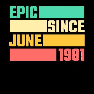 40. Geburtstag Juni Jahrgang 1981 40 Jahre