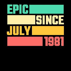 40. Geburtstag Juli Jahrgang 1981 40 Jahre