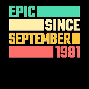 40. Geburtstag September Jahrgang 1981 40 Jahre
