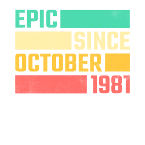 40. Geburtstag Oktober Jahrgang 1981 40 Jahre