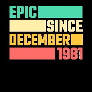 40. Geburtstag Dezember Jahrgang 1981 40 Jahre