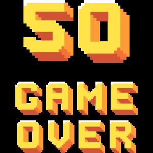 50ter Geburtstag - Pixelart