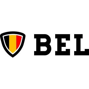 BEL Belgium Blason tricolore Football