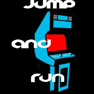 Jump and Run Spielekonsole 80er Jahre Retro