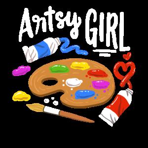 Kunst Künstlerisches Mädchen Künstler