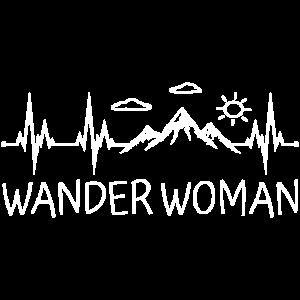 Wander Woman Herzschlag Wandern Berge Wanderwoman
