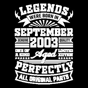 18. Geburtstag Geschenk September 2003 18 Jahre
