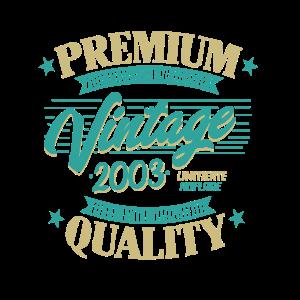 Jahrgang 2003 Geburtstag Zur Perfektion Gereift