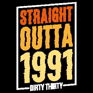 Dirty thirty Geschenk Geburtstag Jahrgang Lustig