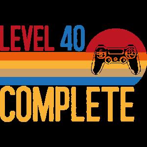 Level complete Geschenk Jahrgang Geburtstag Lustig