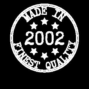 Made in 2002 Geschenk Party Jahrgang Geburtstag