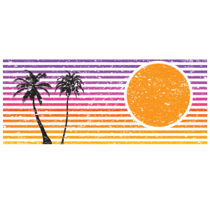 Retro Sonnenuntergang Vintage