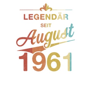 60. Geburtstag Legendär August 1961 Jahrgang 61