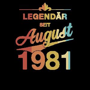 40. Geburtstag Legendär August 1981 Jahrgang 81
